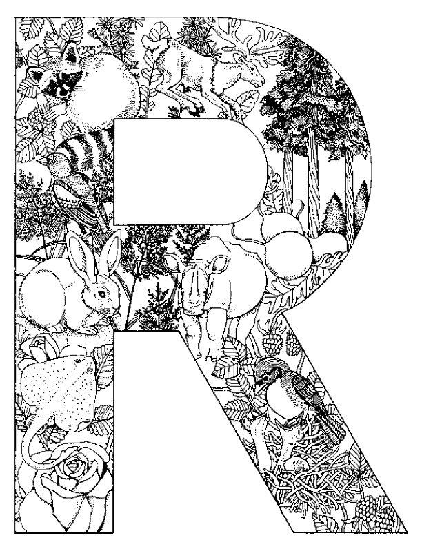 Kids N Fun Com Coloring Page Alphabet Animals Alphabet Animals