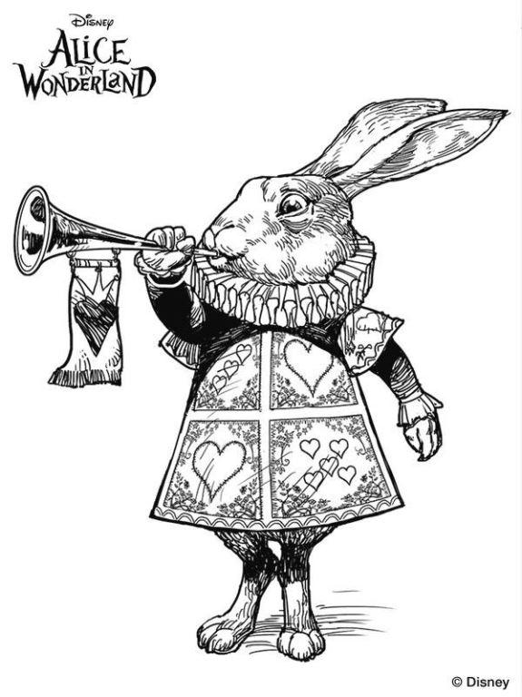 Kids-n-fun.com | 11 coloring pages of Alice in Wonderland (Tim Burton)