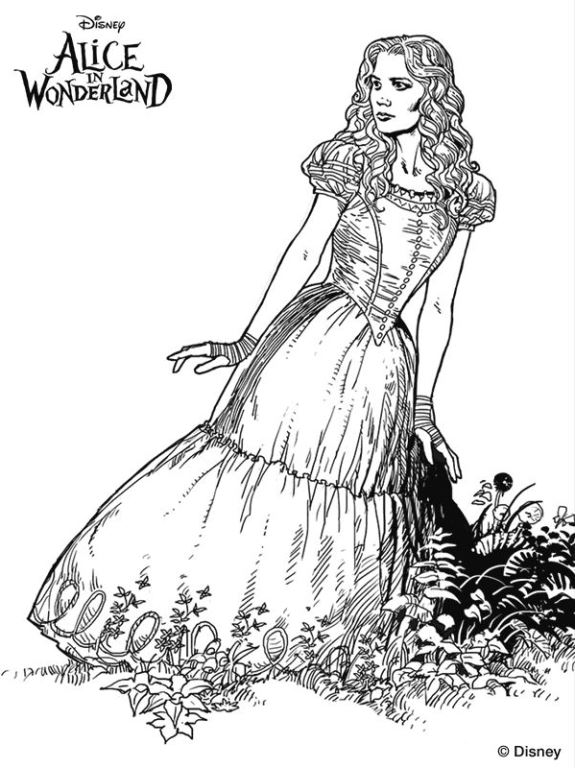 Kids-n-fun.com | 11 coloring pages of Alice in Wonderland (Tim Burton)