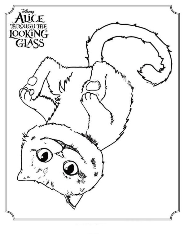 alice through the looking glass 5 coloring pages - All Coloring Pages