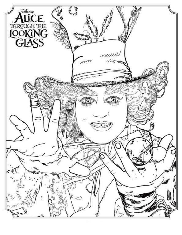 Kids n fun com 5 coloring pages of alice through the looking glass Party Coloring Pages The Mad Hatter Wallpapers Mad Hatter Coloring Book