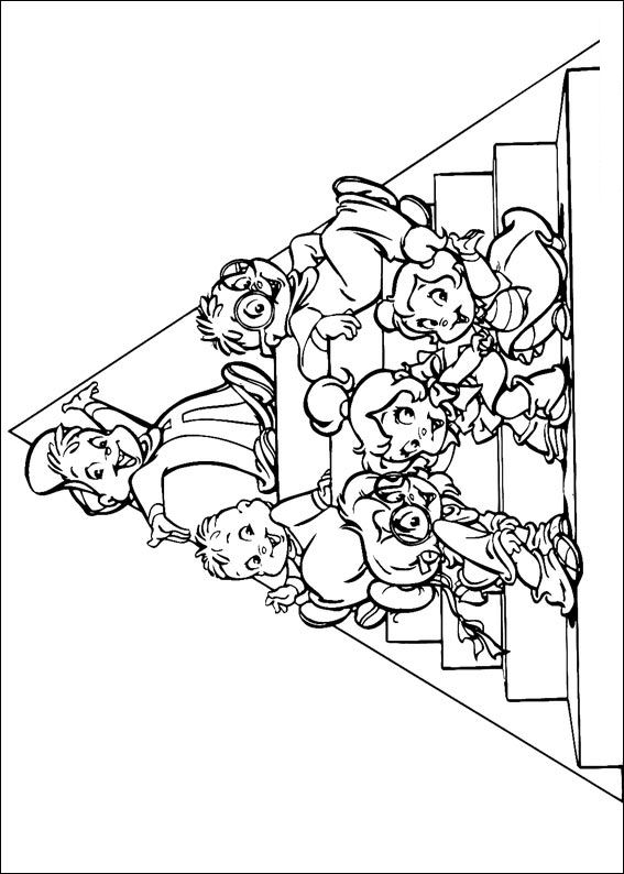 Kids-n-fun.com | 26 coloring pages of Alvin and the Chipmunks