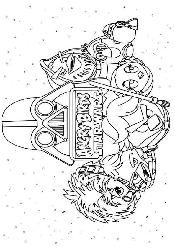 angry birds star wars - Angry Birds Star Wars Coloring Pages