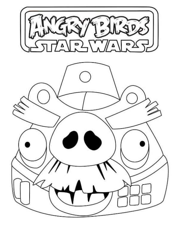 Kids N Fun Com Coloring Page Angry Birds Star Wars Angry Birds Pig