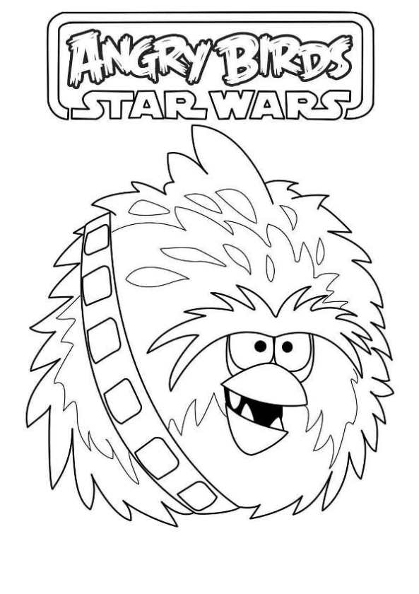 chewbacca - Angry Birds Star Wars Coloring Pages