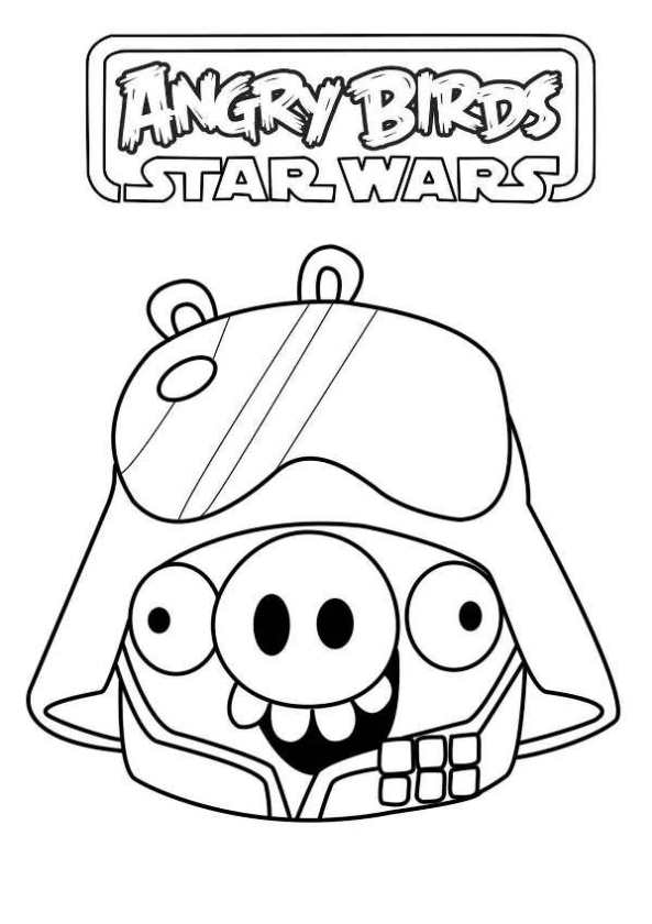 Kids N Fun Co Uk Coloring Page Angry Birds Star Wars Star