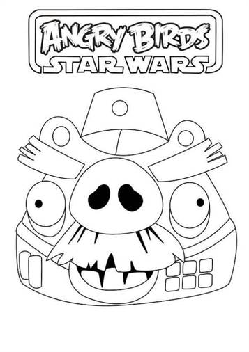 Coloring Pages Of Angry Birds Star Wars