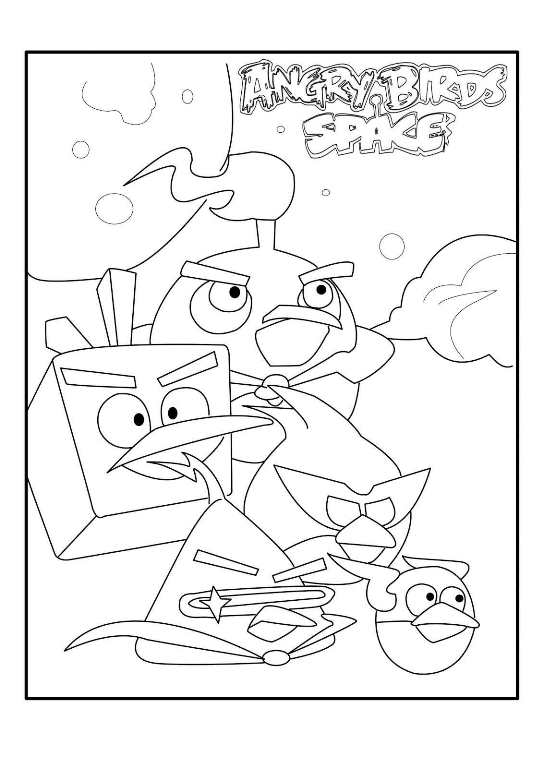 Kidsnfuncom  9 coloring pages of Angry Bird Space