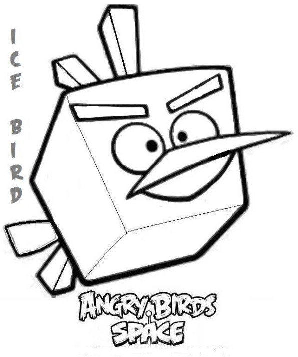 Kids-n-fun.com | 9 coloring pages of Angry Bird Space