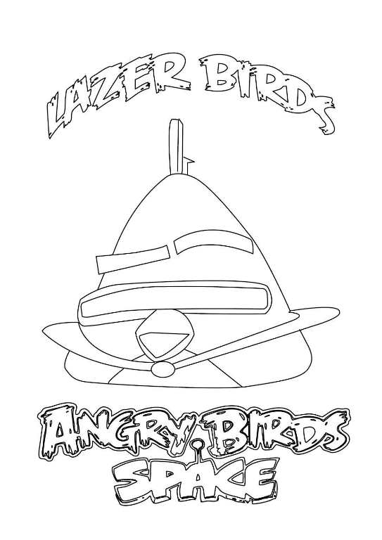 9 Angry Bird Space Coloring Pages