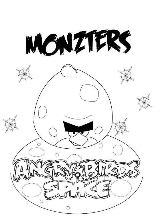 Ausmalbilder Angry Birds Space: 9 Coloring Pages Of Angry Bird Space