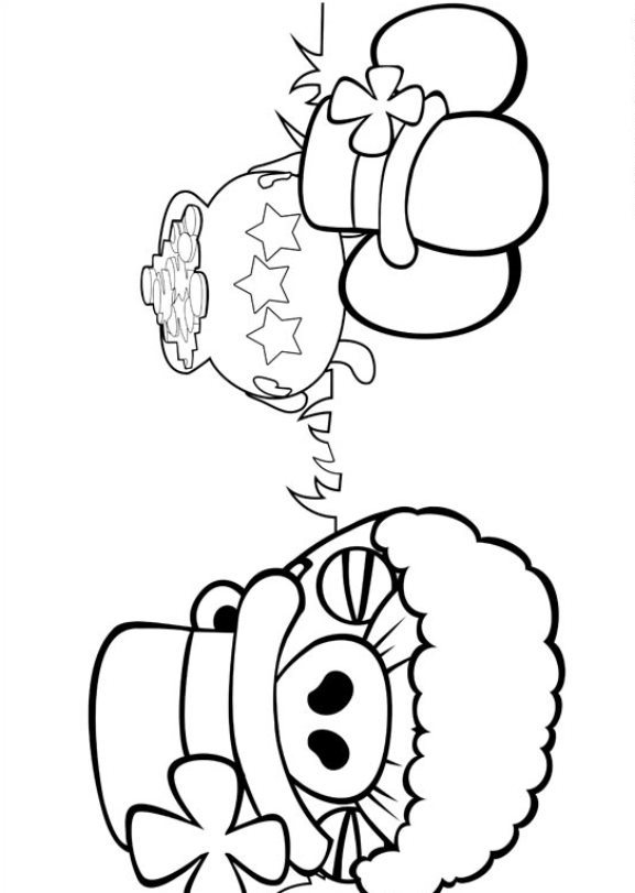 angry monster coloring pages | Kids-n-fun.com | 42 coloring pages of Angry Birds