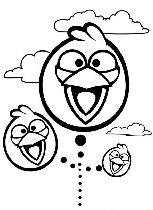 n 42 coloring pages of angry birds
