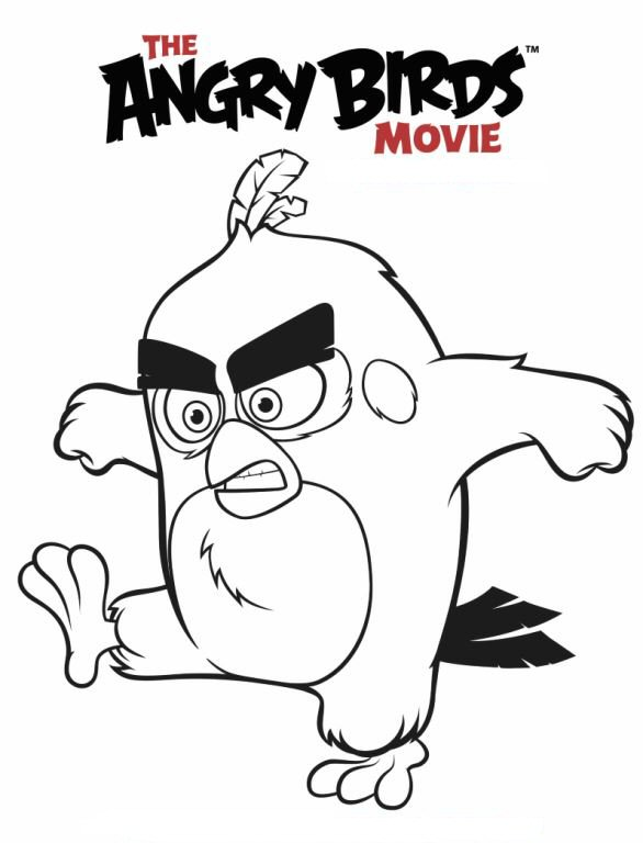 Kids N Fun Com Coloring Page Angry Birds Movie Angry Birds Red