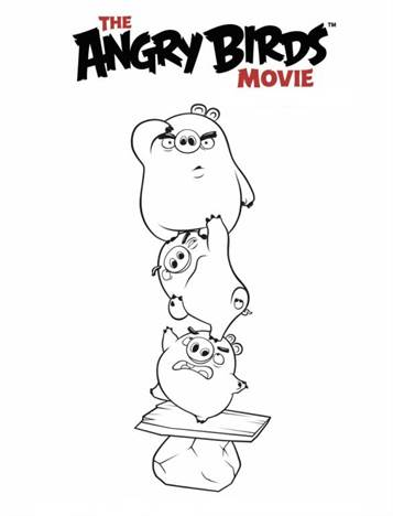Top 40 Free Printable Angry Birds Coloring Pages Online | 468x357