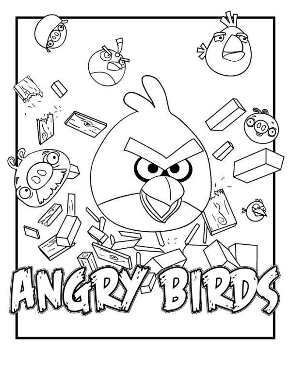 Kids-n-fun.co.uk | 42 coloring pages of Angry Birds
