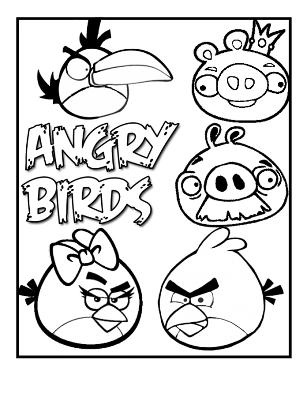 Kids n funcom 42 coloring pages of Angry Birds
