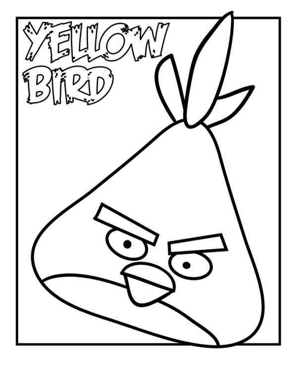 Orangre Bird Angry Birds Coloring Pages Orangre Best