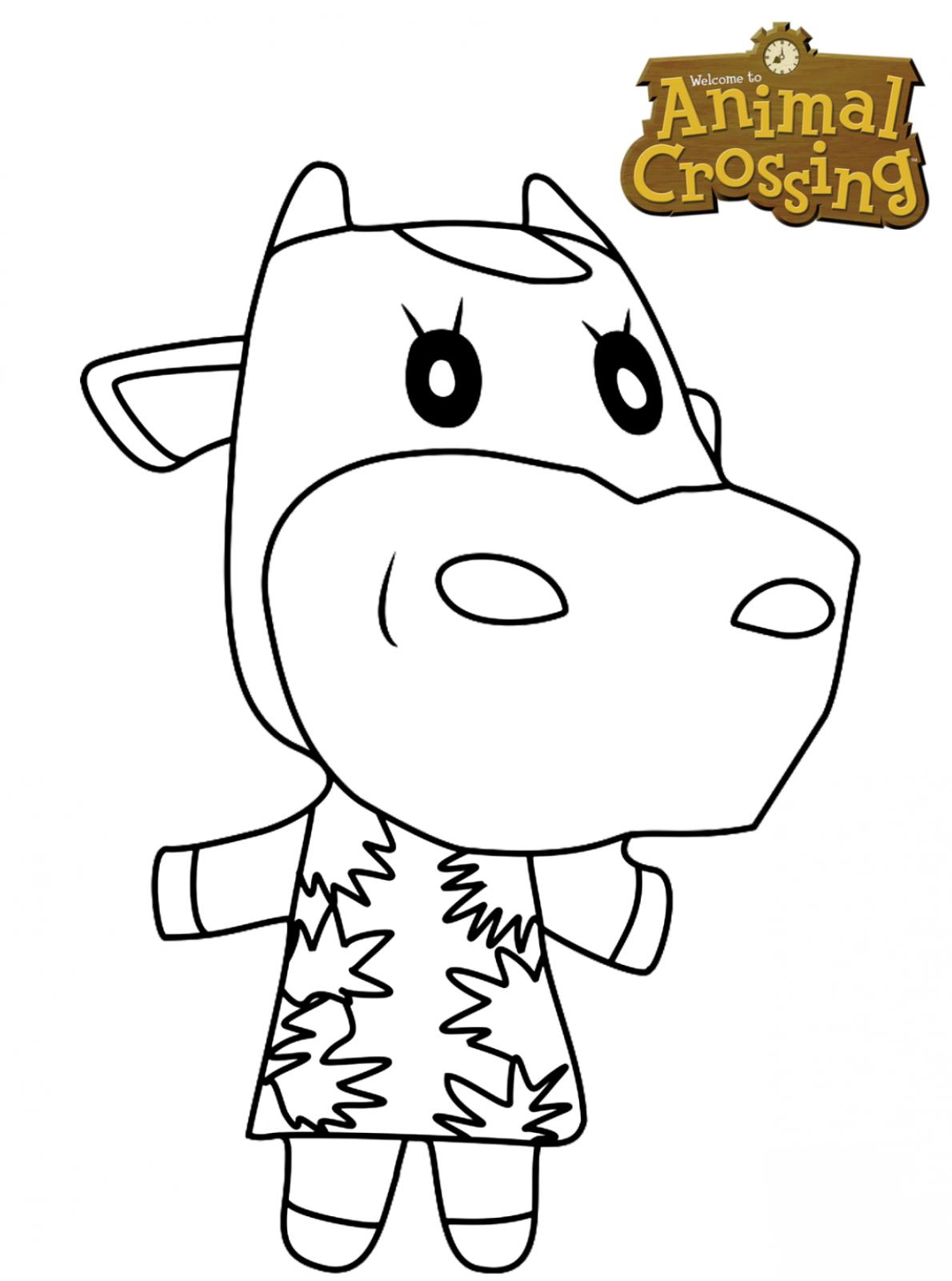 Kids-n-fun.com | Coloring page Animal Crossing Norma