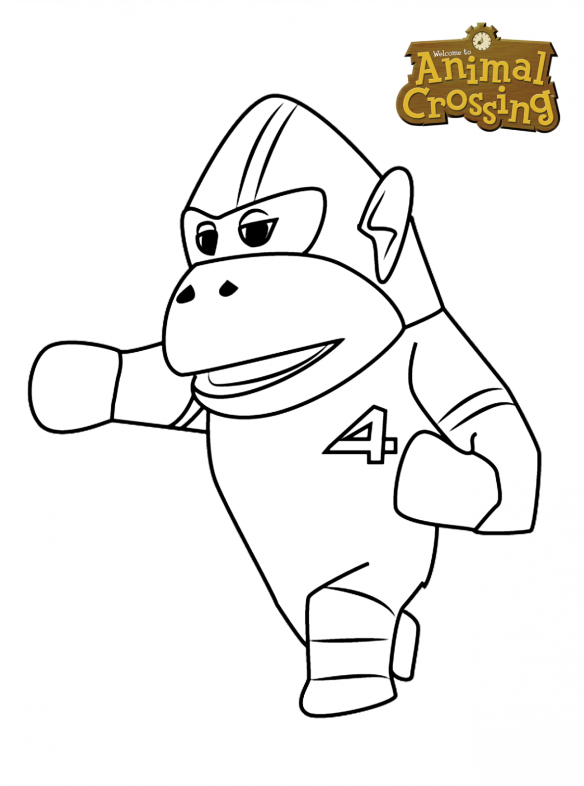 Kids N Fun Com Coloring Page Animal Crossing Rocket