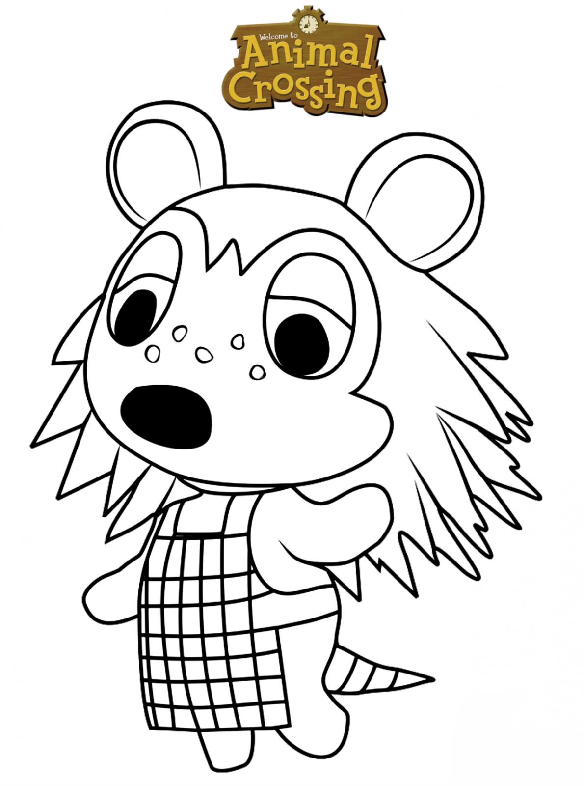 Kids-n-fun.com | Coloring page Animal Crossing Sable