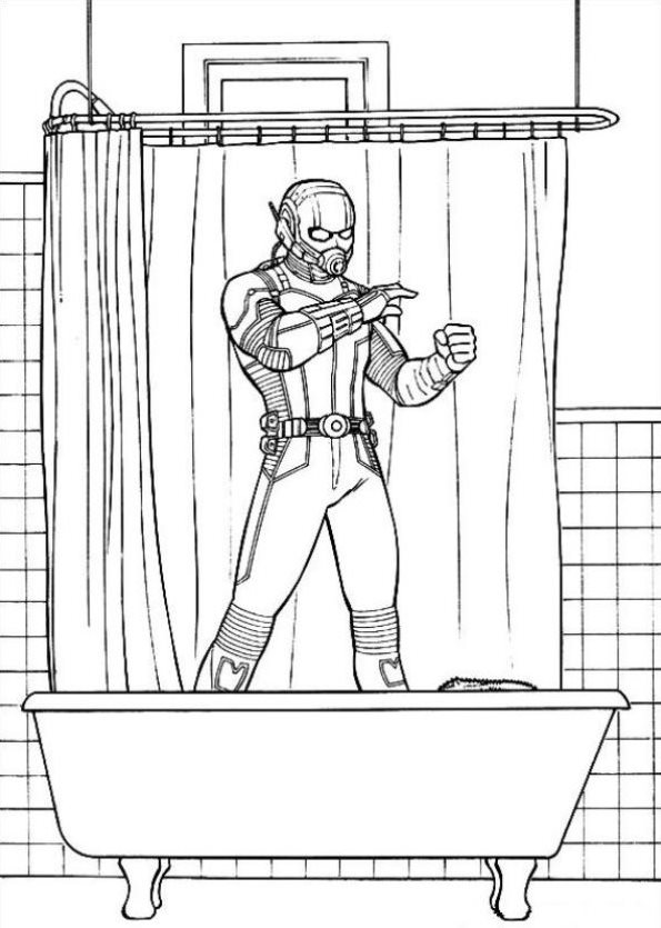 Ausmalbilder Marvel Superhelden: 18 Coloring Pages Of Ant Man