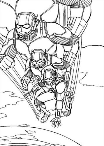 10 Printable Ant Man Coloring Pages For Toddlers | 501x357