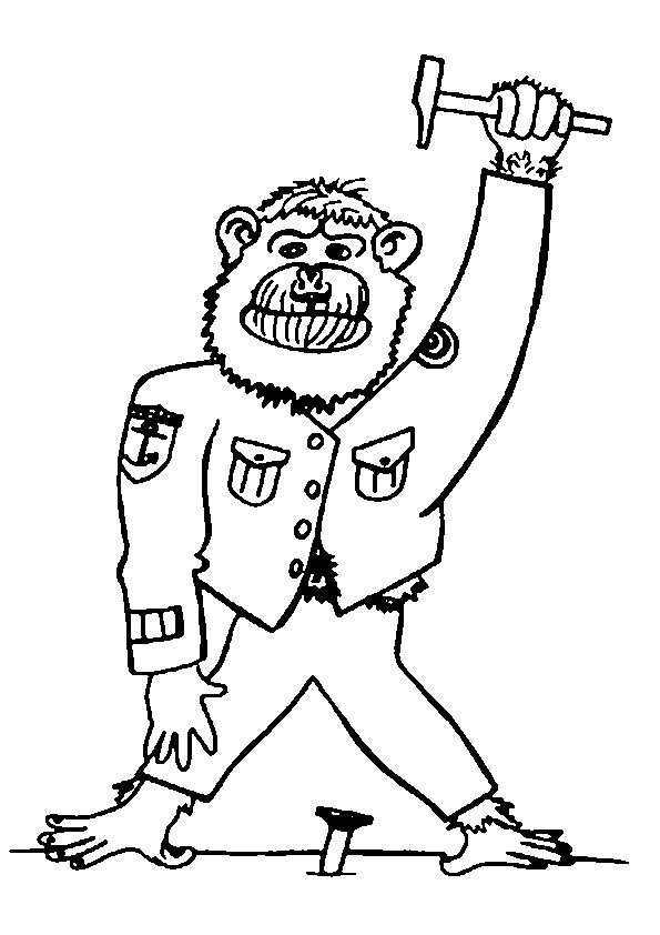 Kidsnfuncom  34 coloring pages of Monkeys