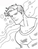 Kids n fun 62 coloring pages of aquaman for Aquaman coloring pages