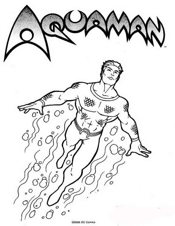 aquaman coloring pages Kids n fun.| 62 coloring pages of Aquaman aquaman coloring pages