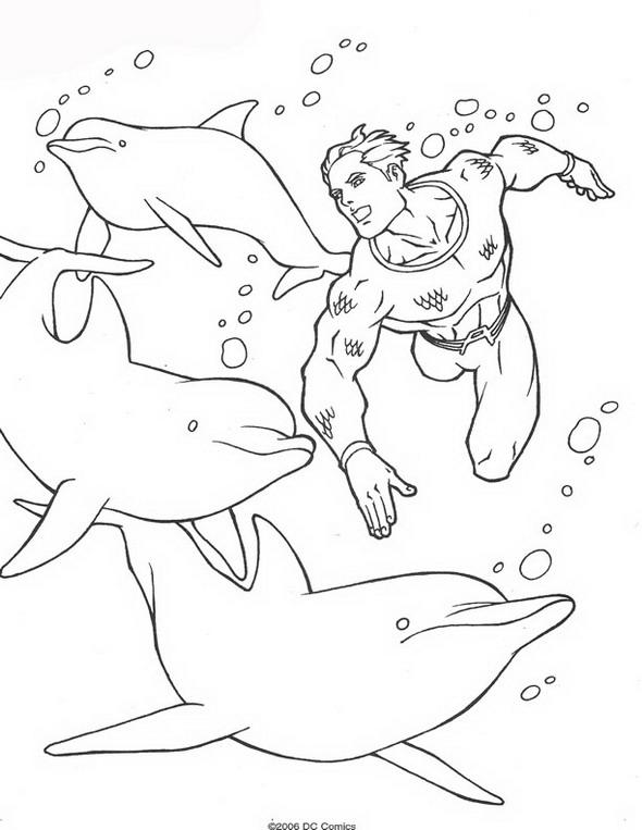 Kids N Fun Com 62 Coloring Pages Of Aquaman Aquaman Coloring Pages
