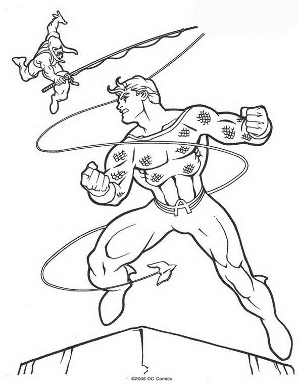 Kidsnfuncom  62 coloring pages of Aquaman