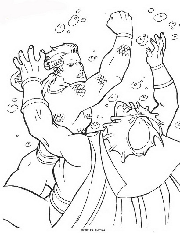 Kids n 62 coloring pages of aquaman for Kids n fun coloring pages
