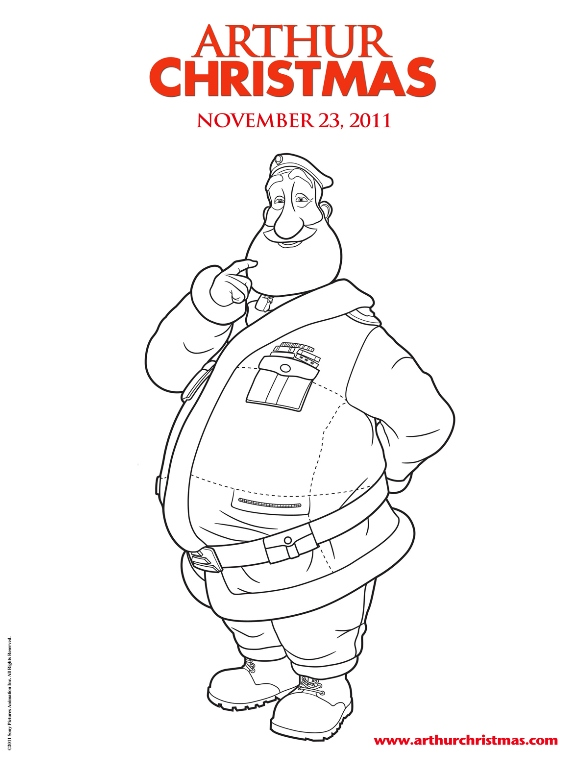kids n fun co uk 11 coloring pages of arthur christmas
