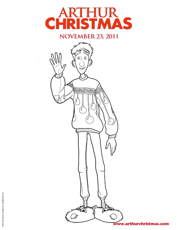 Kids-n-fun.co.uk | 11 coloring pages of Arthur Christmas