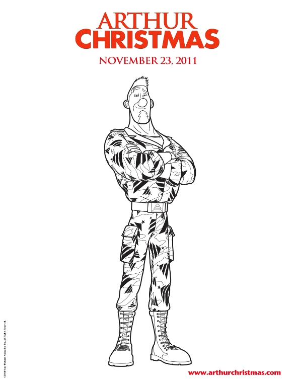 arthur christmas coloring pages - kids n coloring page arthur christmas arthur
