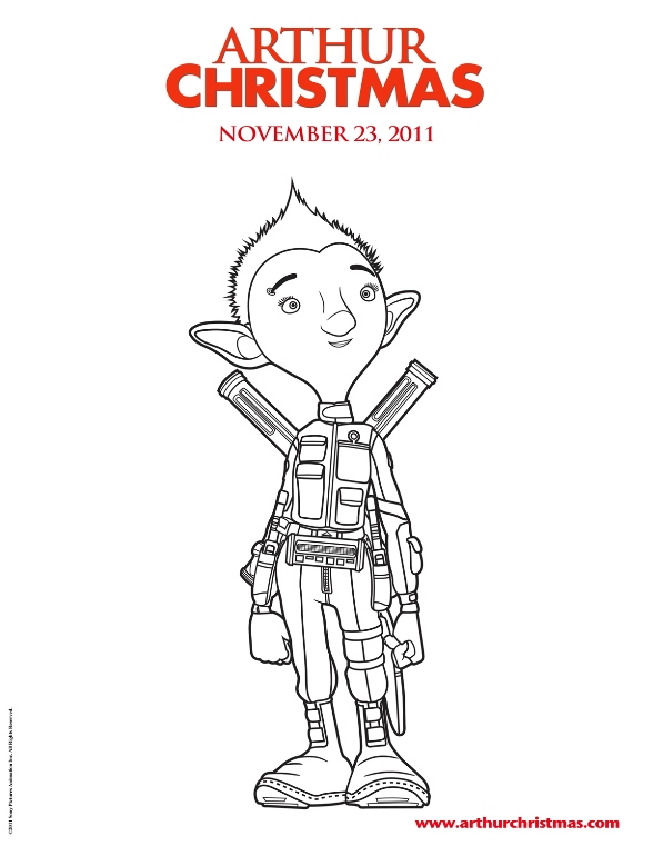 11 arthur christmas coloring pages - Arthur Coloring Pages