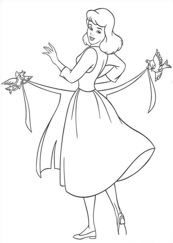 Kids n funcouk 41 coloring pages of Cinderella