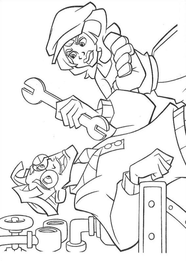 Atlantis The Lost Empire Cookie Coloring Page