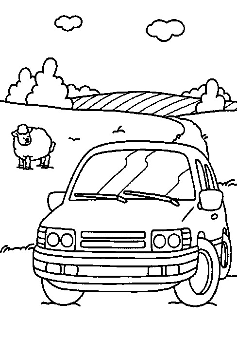 Kids N Fun Com 38 Coloring Pages Of Cars