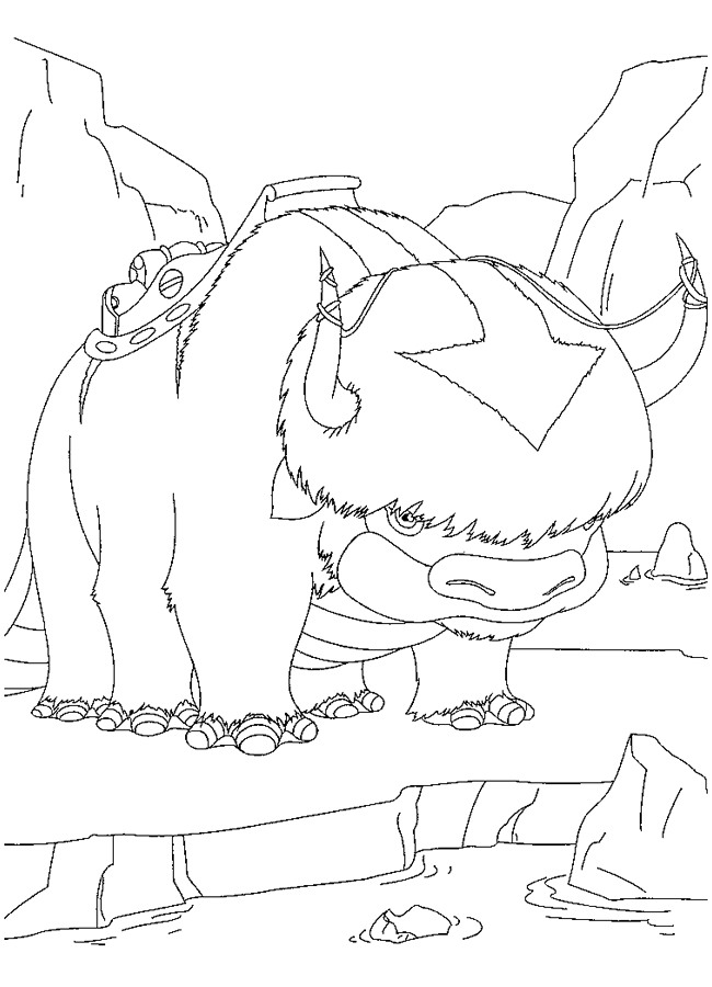Kids n funcom 28 coloring pages of Avatar