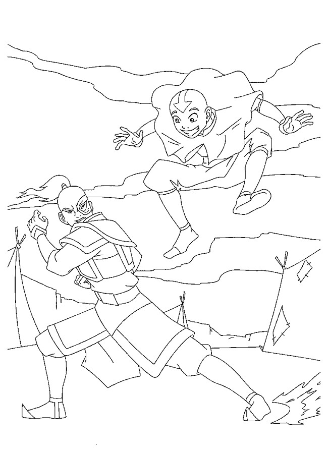 Kids-n-fun.com | 28 coloring pages of Avatar