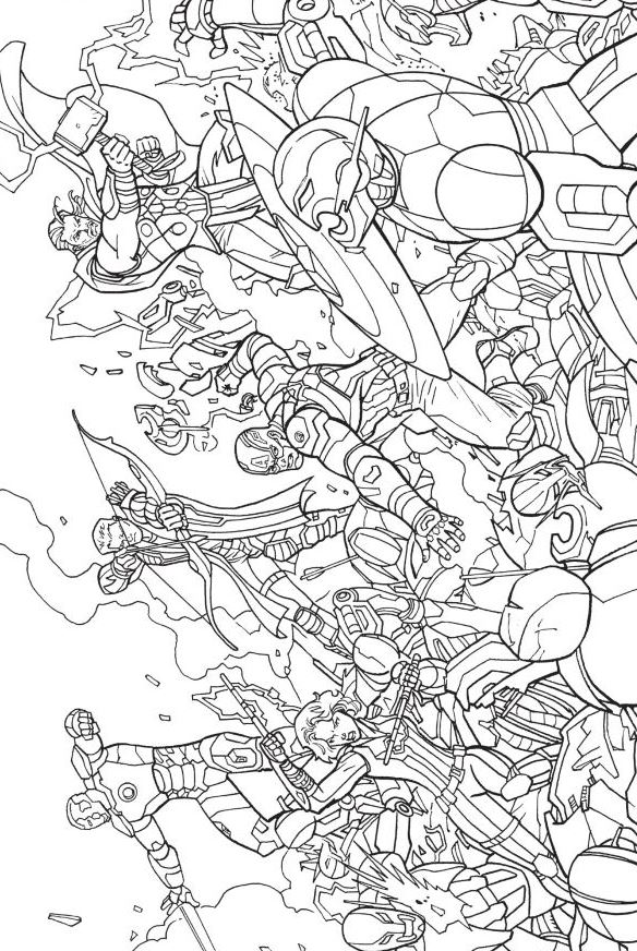 avengers unite - Free Printable Coloring Pages Avengers