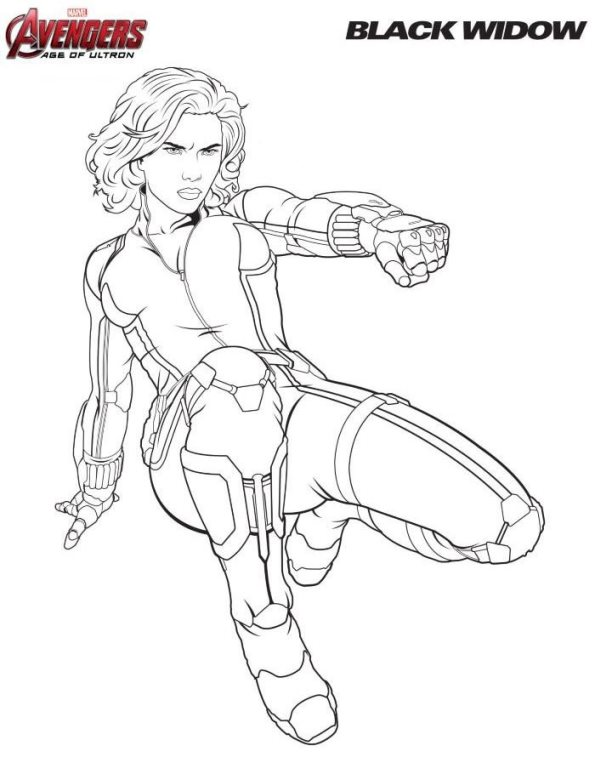 coloring pages - Black Widow Marvel Coloring Pages
