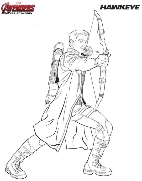 coloring page hawkeye - Coloring Pages Avengers