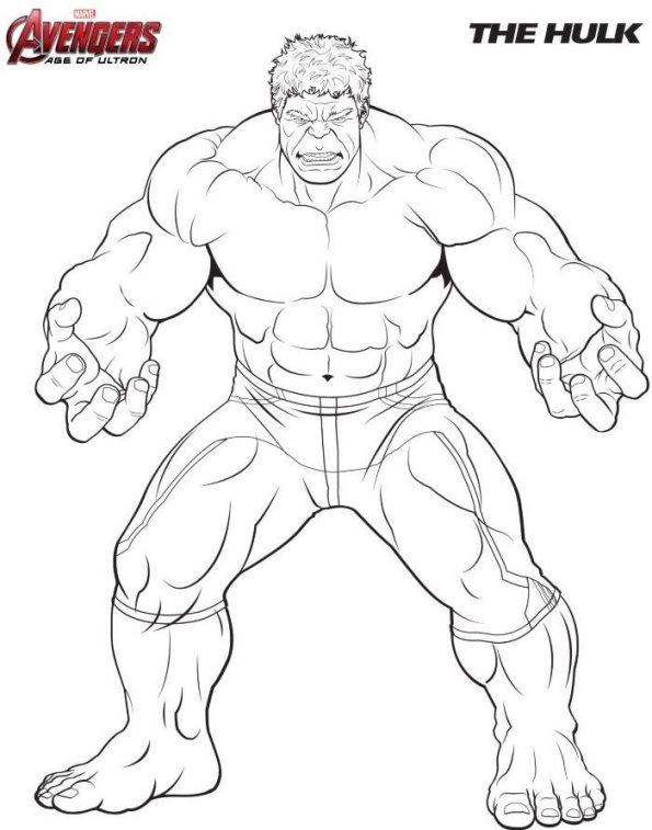 Kids N Fun Com Coloring Page Avengers Hulk