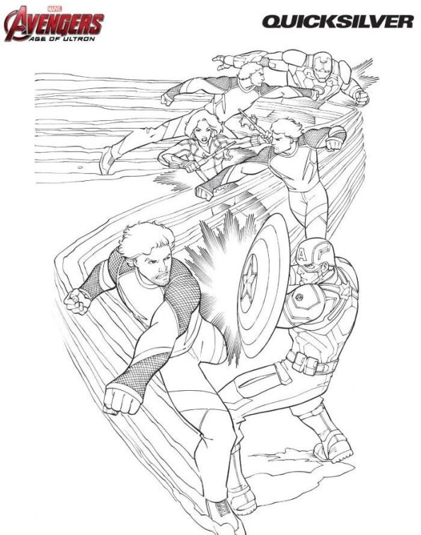 Quicksilver Coloring Pages : Kids n fun coloring pages of avengers