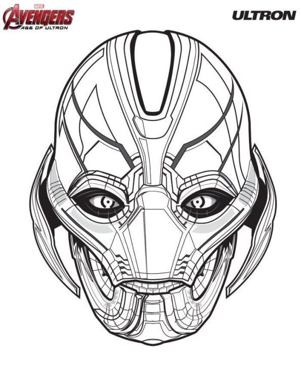 ultron - Avengers Logo Coloring Pages