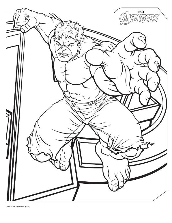 Kids n funcom 18 coloring pages of Avengers