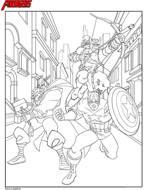 18 avengers coloring pages